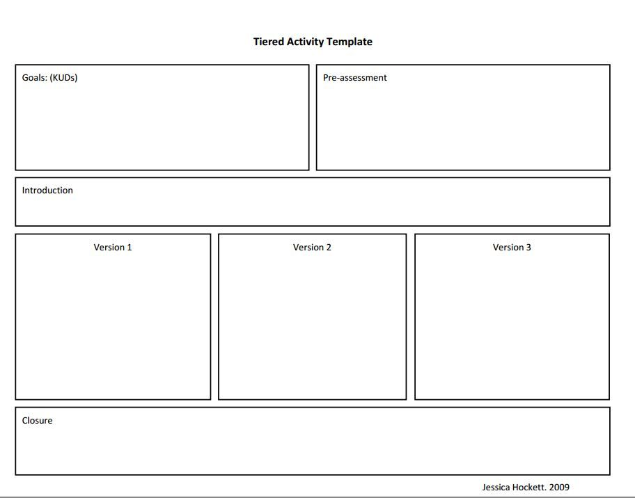tierred instruction template Lesson Plans Pinterest - instruction template