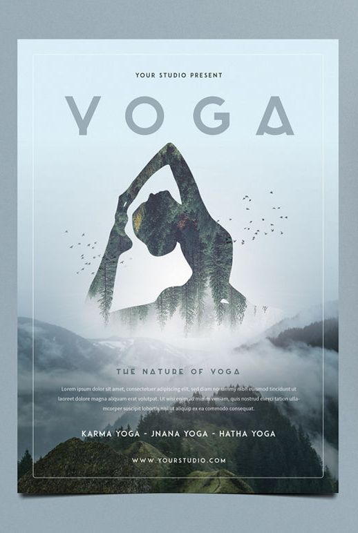 Yoga Flyer Template PSD Yoga Yoga Yoga Pinterest Flyer - psd brochure design inspiration