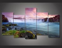 "5 Panel ""Emperor Falls"" Canvas Painting 