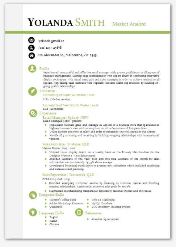 cool looking resume Modern Microsoft Word Resume Template - artistic resume templates