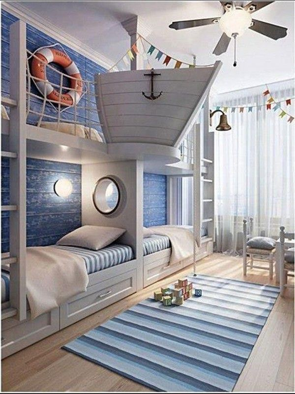 24 Awesome Nautical Home Decoration Ideas Decorating, Beach and - nautical bedroom ideas