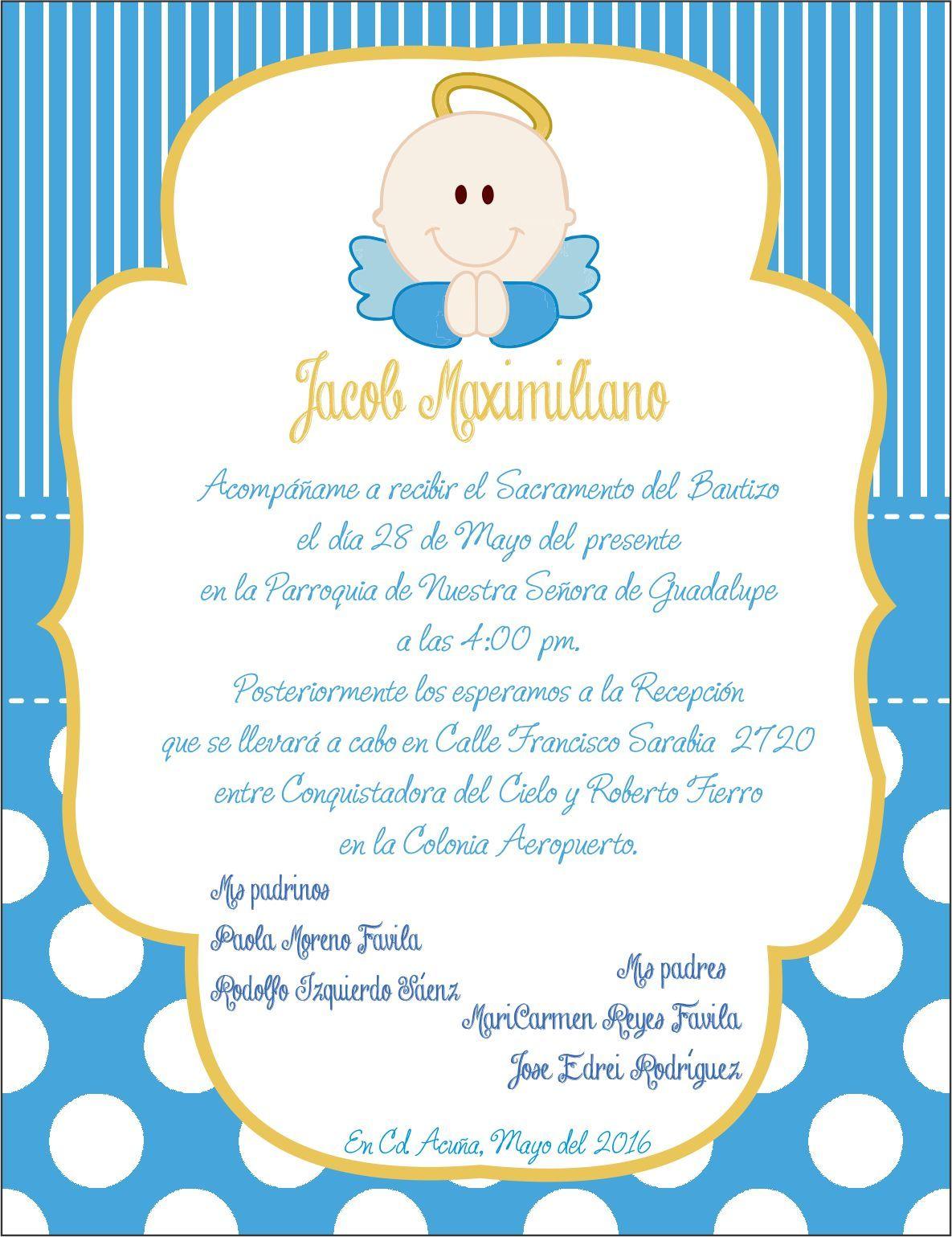 bautizo invitaciones templates