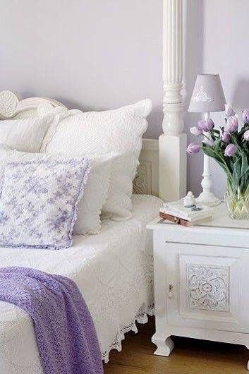 Schlafen In Flieder Und Weiß Violett, Flieder, Lila Edel Und   Vintage Lila  Schlafzimmer