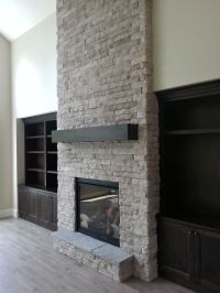 new construction, indoor fireplace, stone fireplace, built ...