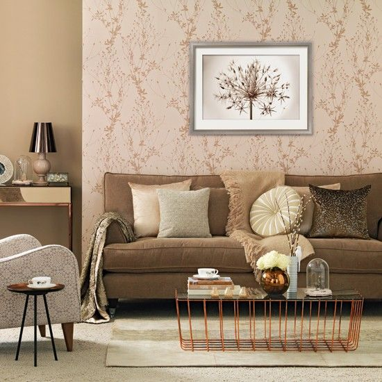 Rose gold living room