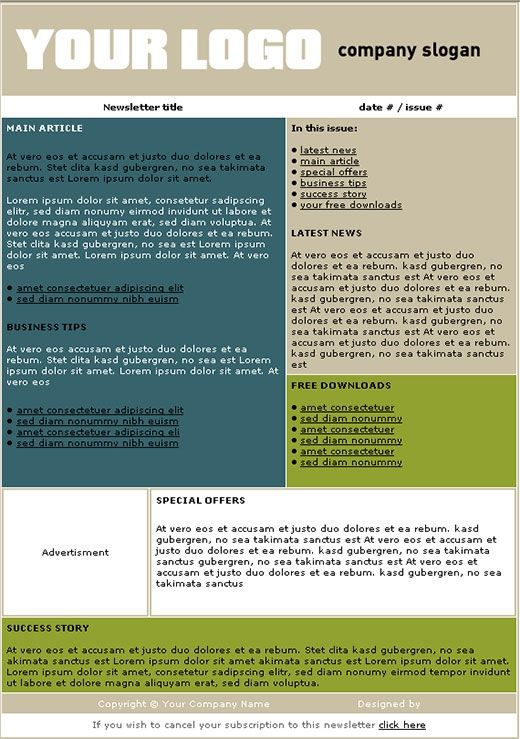 Free Newsletter Templates makenewsletters Pinterest - microsoft word newsletter templates free download