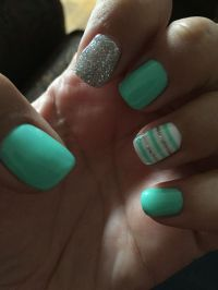 Loving my teal and silver nails! | Cute nails designs ...