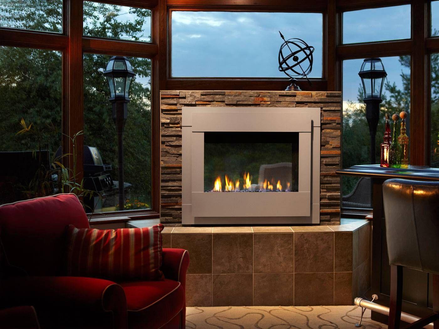 Twilight Indoor/Outdoor Modern Gas Fireplace