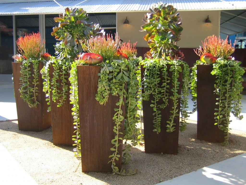 Big Garden Planters Love The Containers And If They Are Steel I 39m Definitely