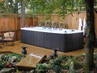 Zen Small Backyard Ideas Back Yard With Swim Spa Cfbde ...