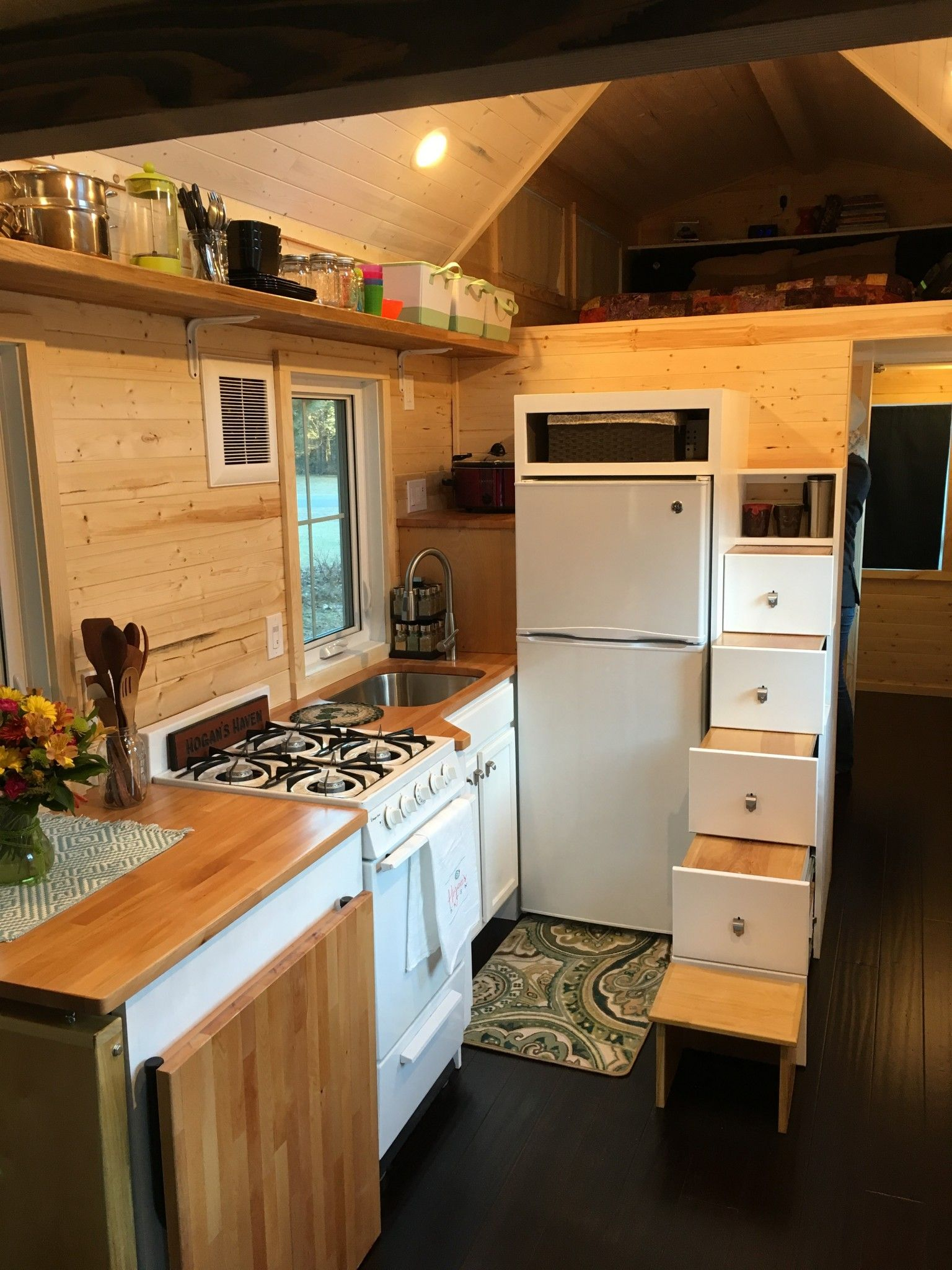 Tiny House completed kitchen as seen on HGTV Tiny House