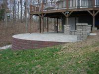 Raised Paver Patio/ Retaining Wall/ Columns/ Stone Sitting ...