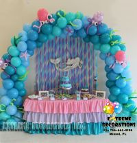 Little Mermaid Under the sea Balloon arch / Cake table ...