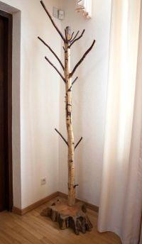 Coat rack, Free standing birch coat stand, Rustic birch ...