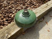 Green Porcelain Shade, Industrial Porcelain on Metal Light ...