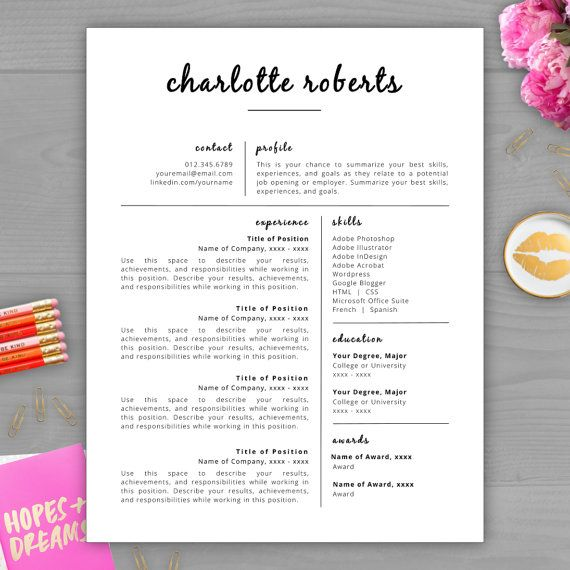 Upgrade your résumé and make a lasting impression with this best - stand out resume templates