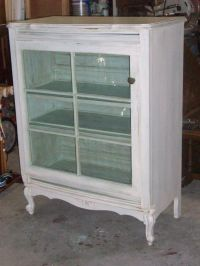 dresser turned into curio cabinet (the door is an old ...