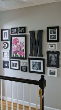 hallway decor, home decor, diy, letter decor, large letter