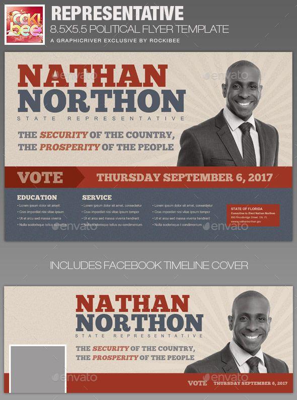 Representative Political Flyer Template Flyer template, Flyers - campaign flyer template