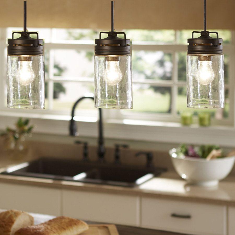 Industrial Farmhouse Glass Jar Pendant Light Pendant