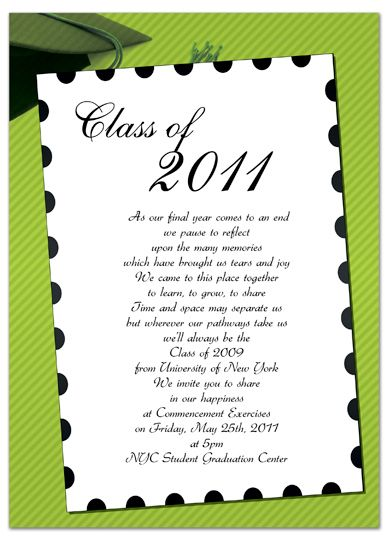 Free Invitation Templates for Word Free Graduation - graduation invitation template