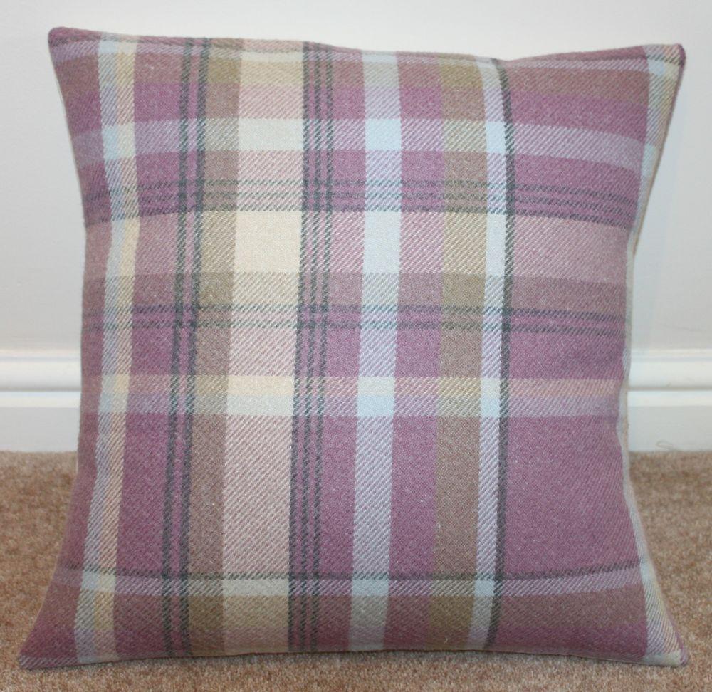 Elgin Lilac Tartan Check Cushion Cover 16quot X 16quot Tartan