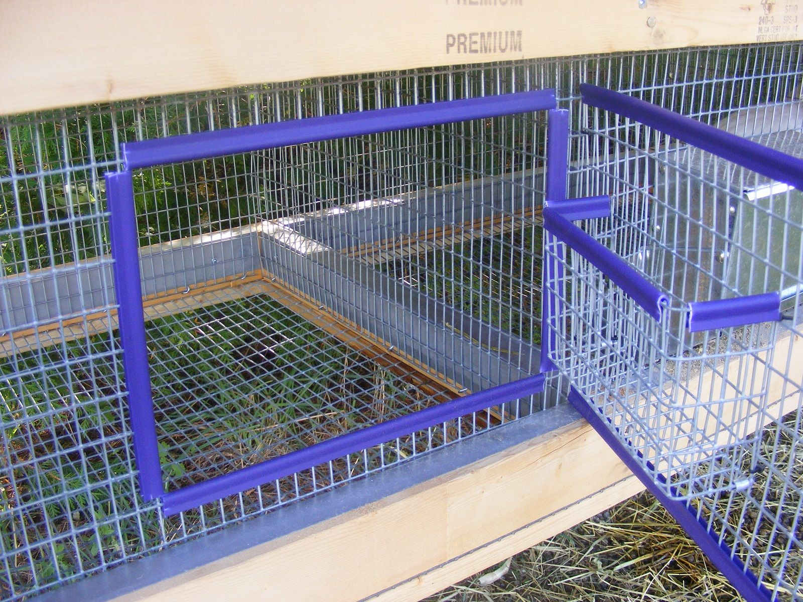 Diy Cage For Rabbit Homemade Rabbit Cage The Door With A Hay Rack Attacked I