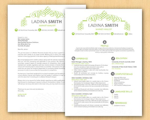 Lime Green Calligraphy Swirls Microsoft Word Resume by INKPOWER - resume in microsoft word