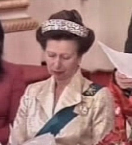 Princess Anne Mystery Tiara In China Jewels - Queen Mother S Art Deco Bandeau Tiara