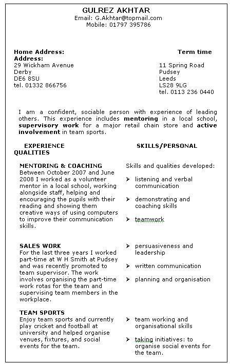 skills based resume example - Google Search School - Business - listing skills on resume