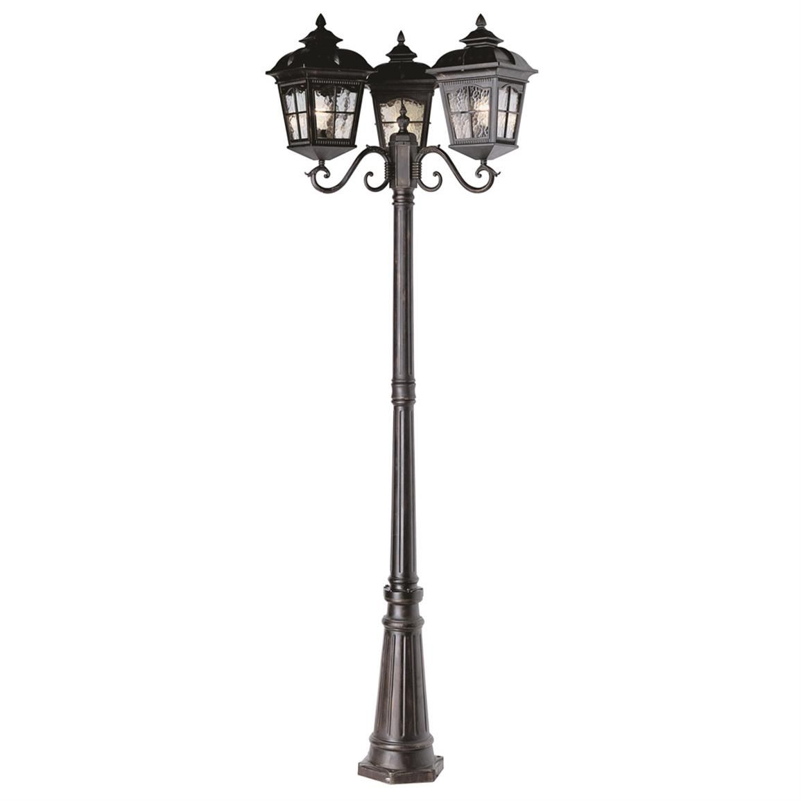 outdoor wiring lamp post