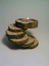 OOAK Log Tealight Candle Holder SixTiered by ...