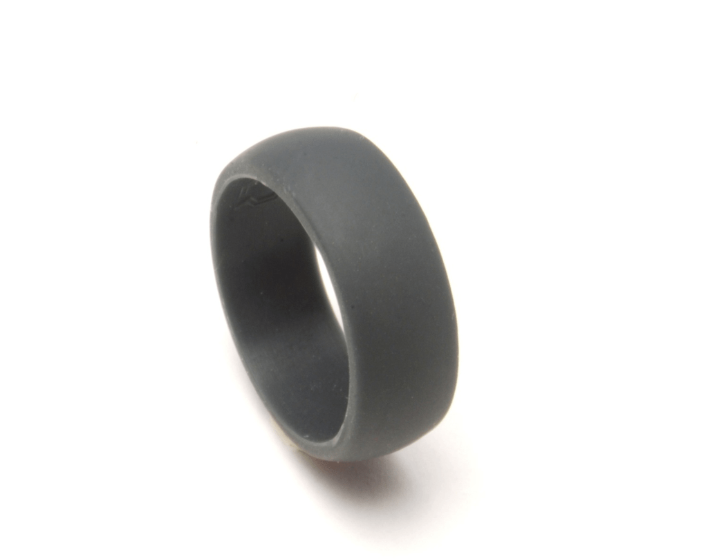 silicone wedding ring QALO Slate grey silicon wedding ring for an active lifestyle QALORing com