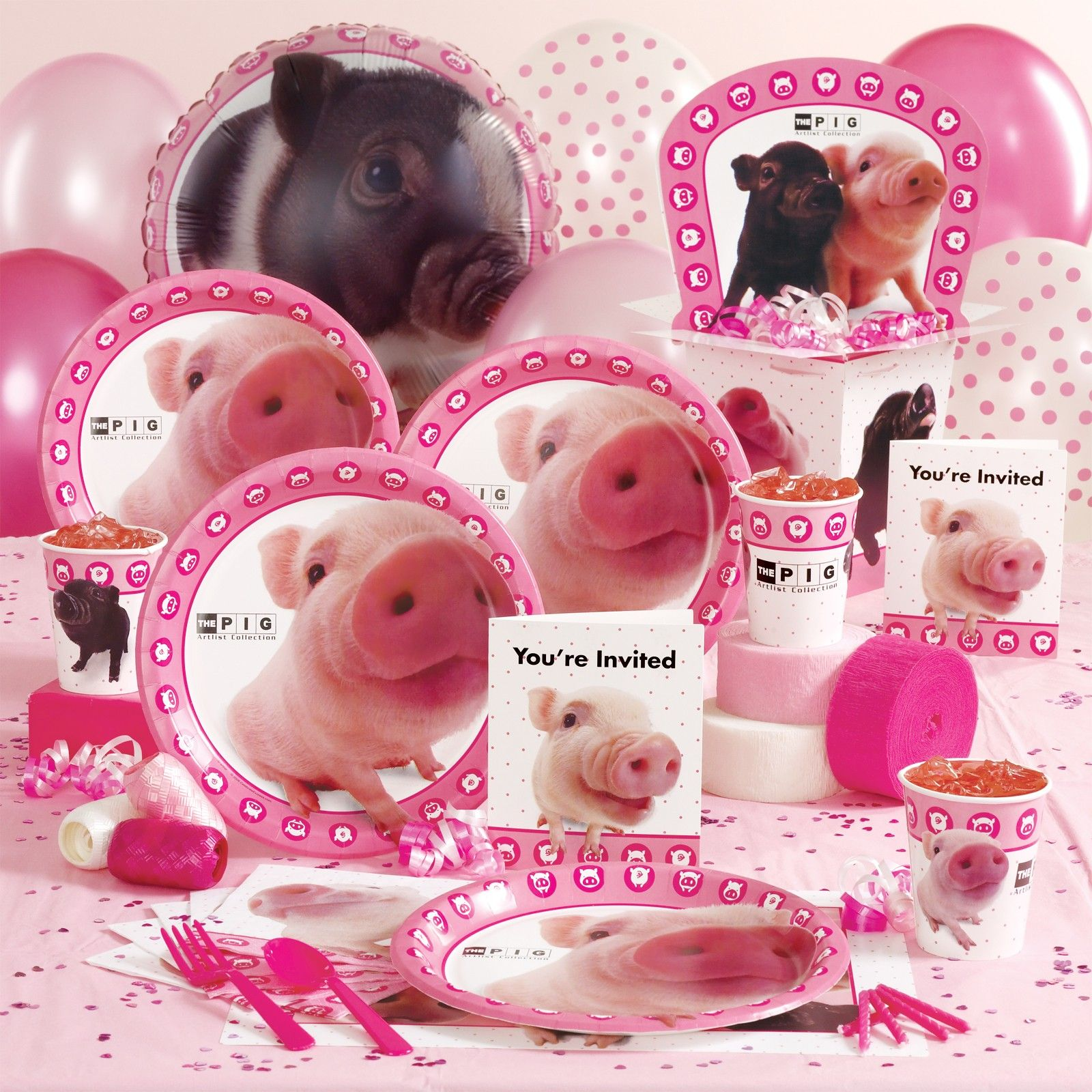 Birthday Supplies Pig Party Supplies Birthday Ideas Pinterest Pig