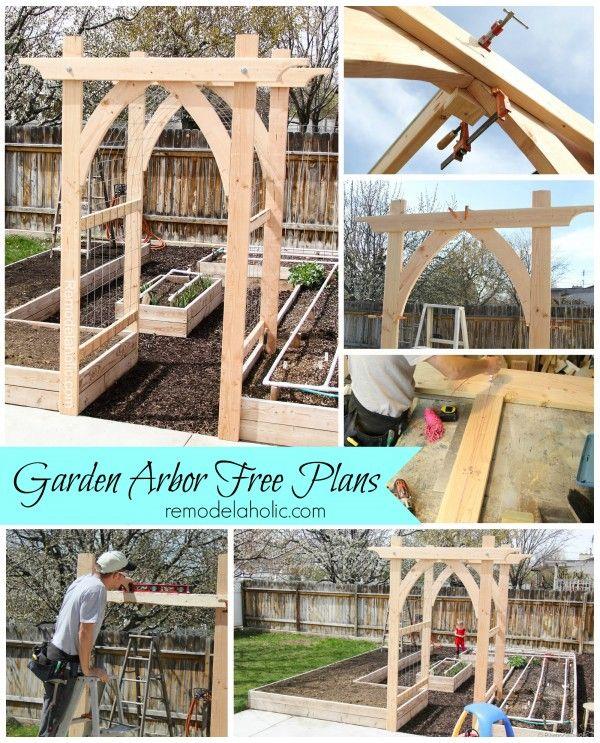 Vegetable Garden Arbor DIY Plans Garden arbours, Vegetable - garden arbor plans designs