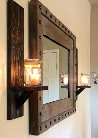 17 Easy Wood candle holders this season | Rustic wall ...
