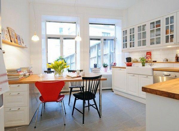 skandinavische Küche-moderner Essplatz LIEBLINGS-KÜCHEN - skandinavisches kuchen design sorgt fur gemutlichkeit