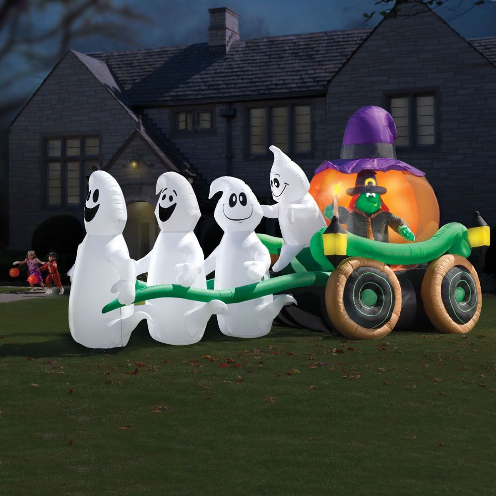 The inflatable illuminated ghastly stagecoach awesome for halloween