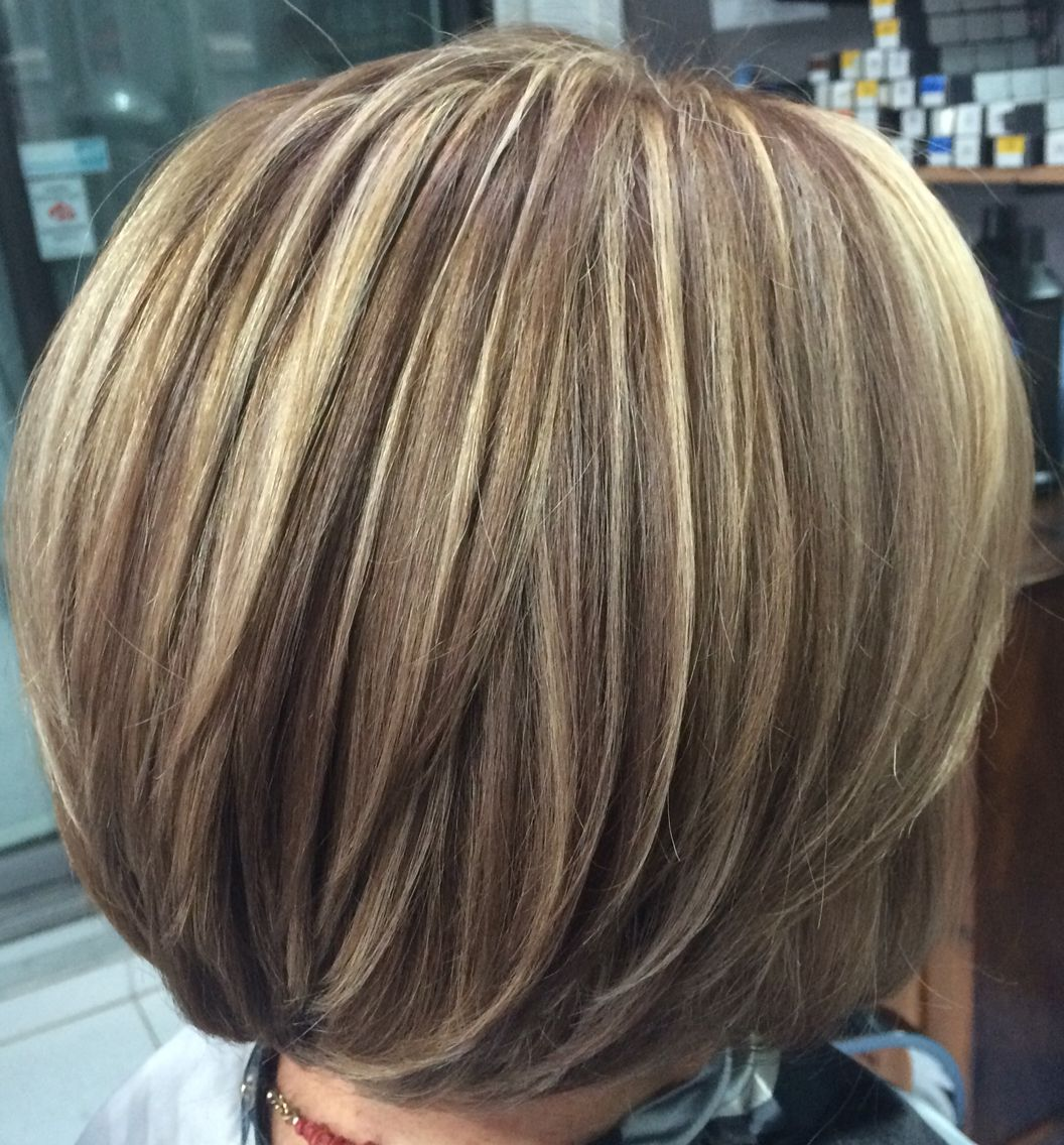 Highlights Blond Blond Highlight With Warm Beige Lowlight Layerbob
