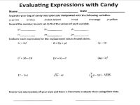 Evaluating Expressions Worksheet Free Worksheets Library ...