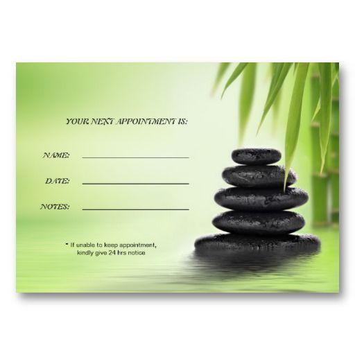 Zen Spa Massage Appointment Card Template Business Card Templates - sample appointment card template