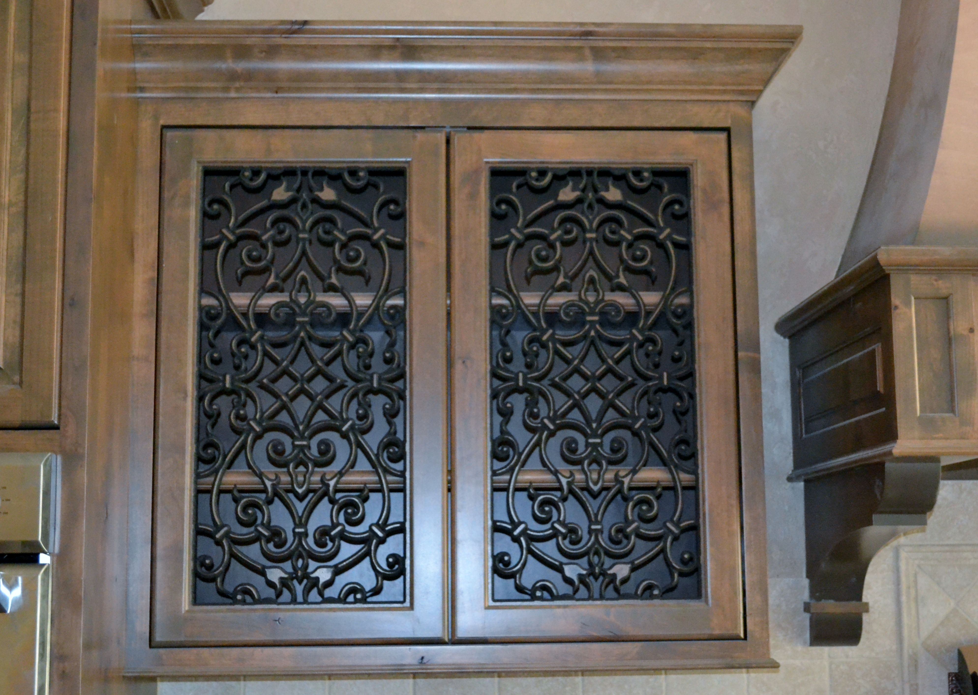 Faux Kitchen Cabinet Doors Kitchen Cabinet Doors With Faux Iron Inserts From Faux
