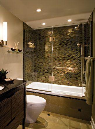 Pretty shower make-over Decor \ Design Pinterest Condo - bathroom remodel pictures ideas