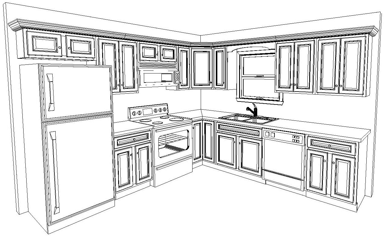 Cuisine Ikea Sketchup 10 X 10 Kitchen Layout Hgtv Remodels Kitchen Layouts