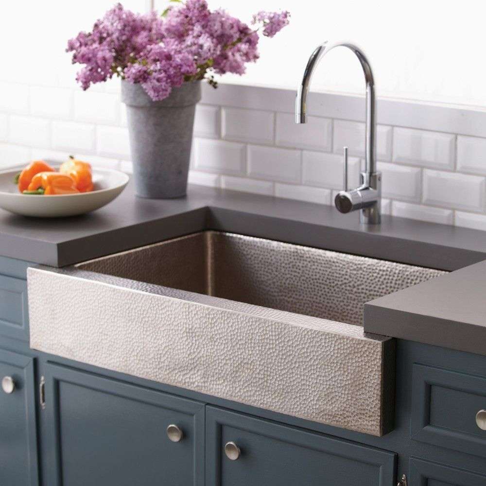 Belle Foret Farmhouse Sink Hammered Stainless Steel Farmhouse Kitchen Sink Http Yonkou