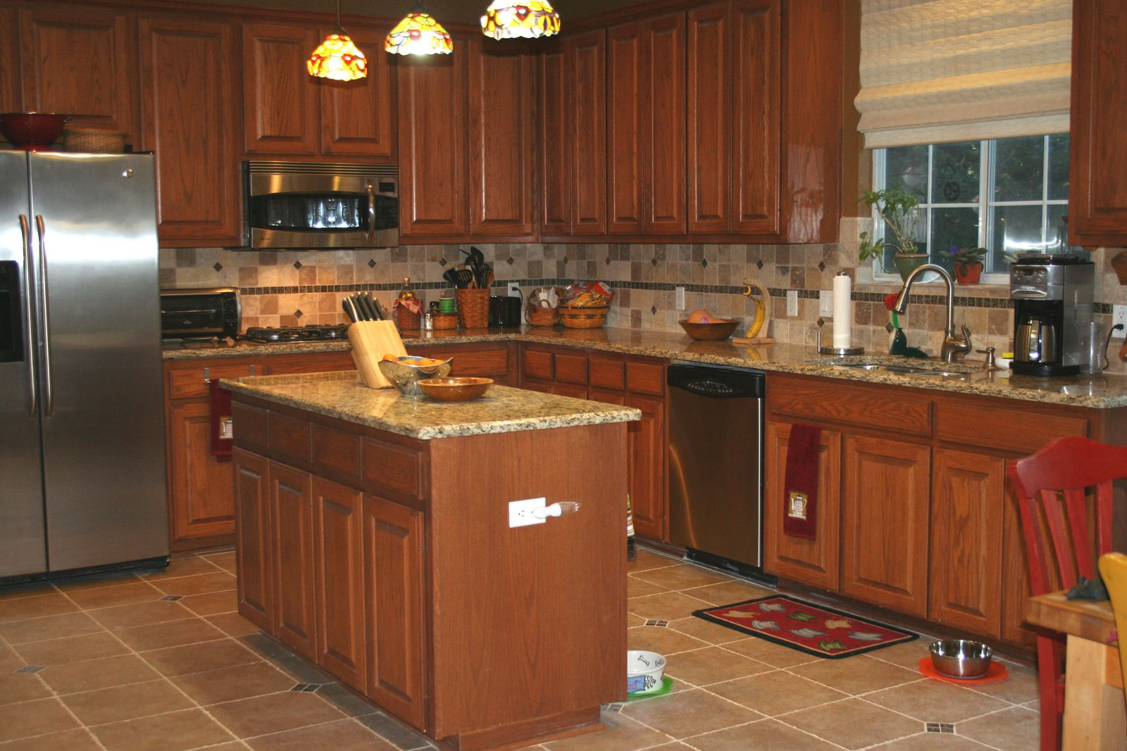 Kitchen Tiles Granite Back Splash Designs For Kitchen With Beige And Brown