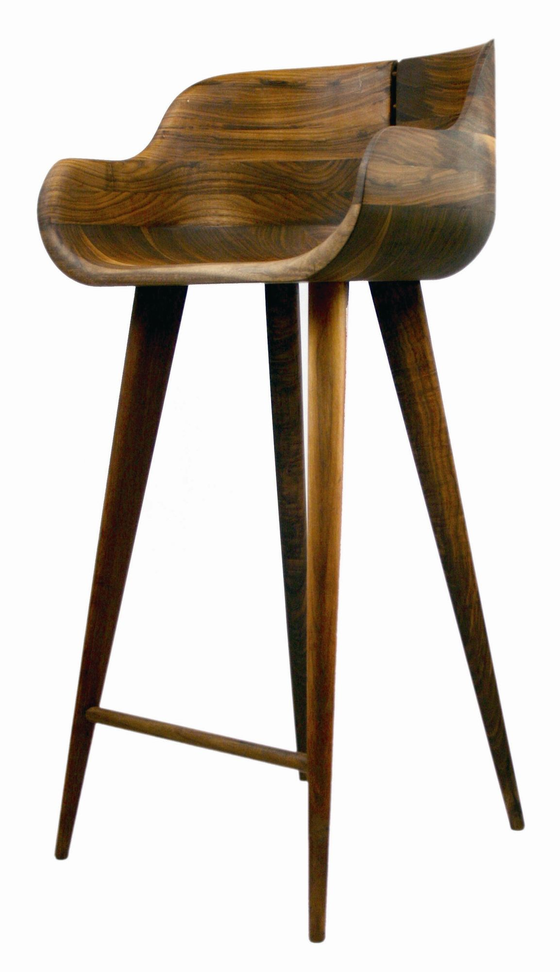 Modern Wood Bar Stool Walnut Counter Stool Just What I Need For My Bar Seeing
