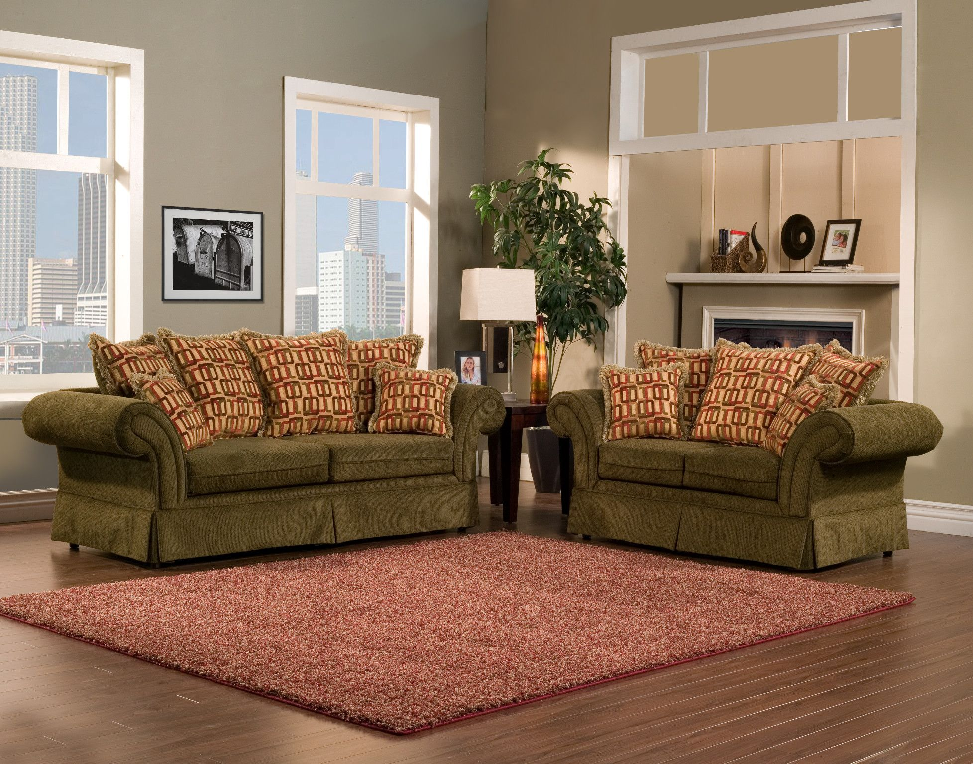 Olive Green Wall Decor Pleasureable Olive Green Fabric Traditional Sofa With Red