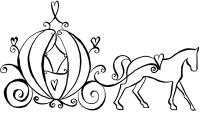 cinderella carriage outline - Google Search | Princesses ...
