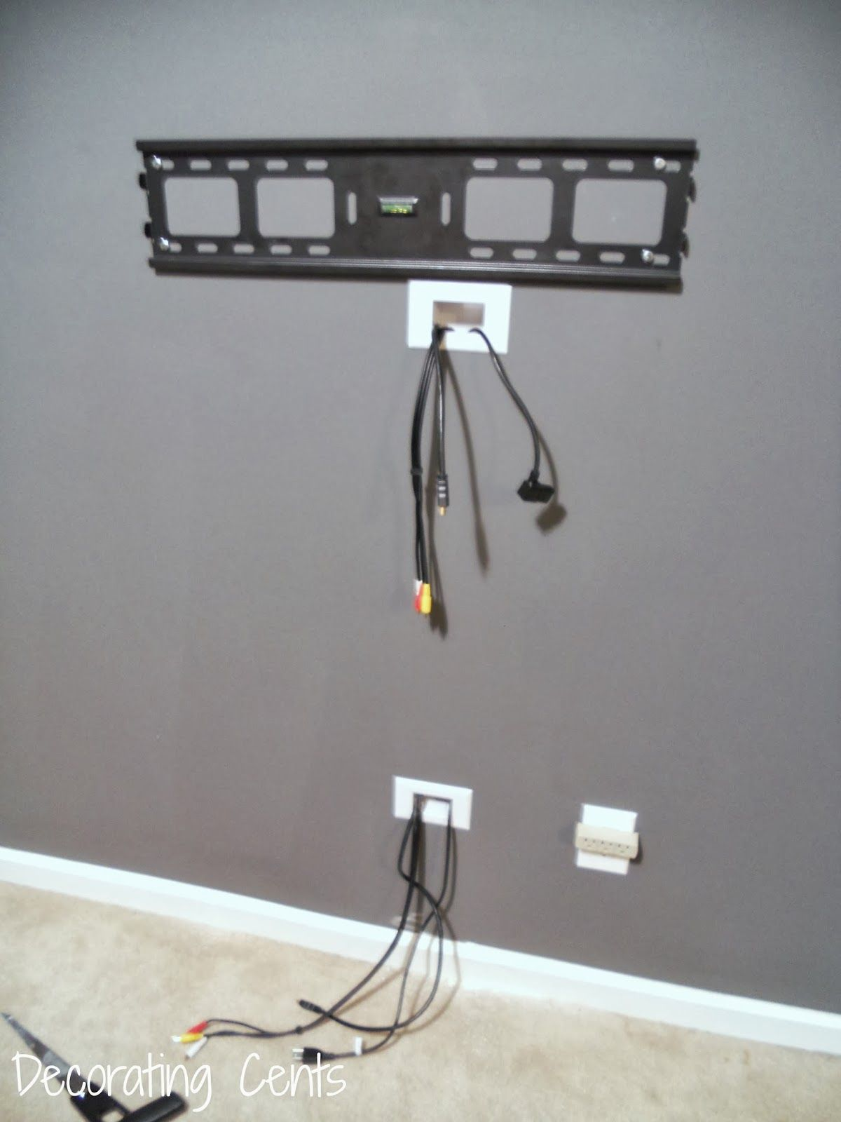Wall Mounted Tv Setup Ideas Decorating Cents Wall Mounted Tv And Hiding The Cords